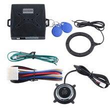 В наличии! универсальный RFID системы сигнализации автомобиля с смарт-кнопка старт и Транспондер Иммобилайзер keyless go система