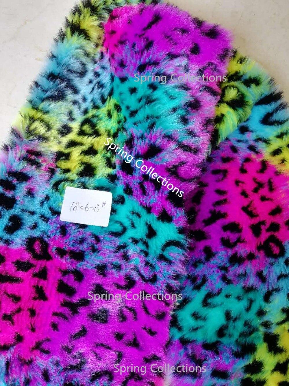 160cm*91cm High-grade Jacquard Fur,Imitation Leopard Fabric Plush Carpet Mats Fabric,DIY Handmade Faux Fur Fabric 15mm Long Hair