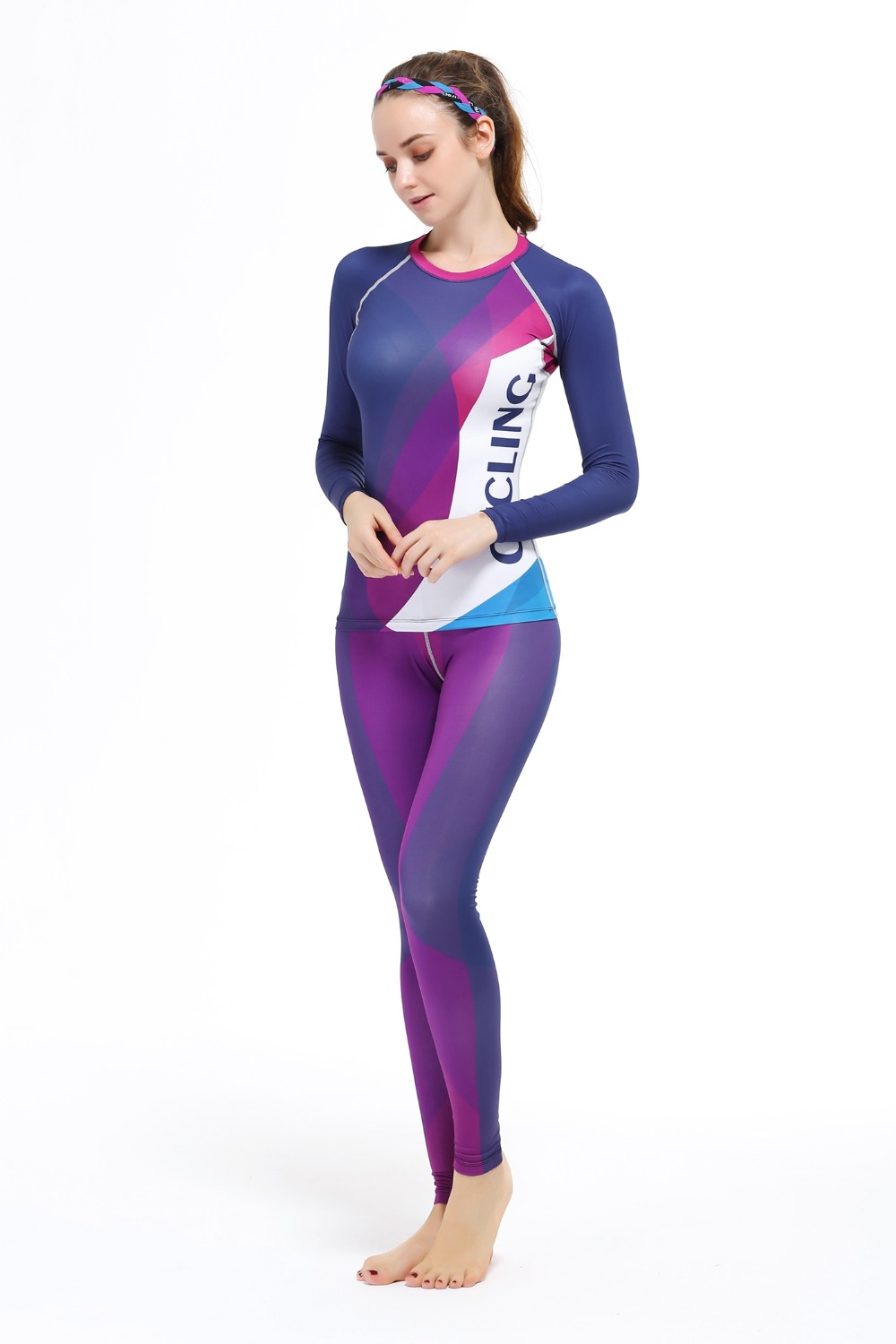 cf66acce7c8 2015 Ladies Cycling Jersey Woman MTB Ropa Ciclismo Shirt + Pants Figtness Yoga  Compression Bike Wear Cycling Clothing Woman -in Cycling Sets from Sports  ...