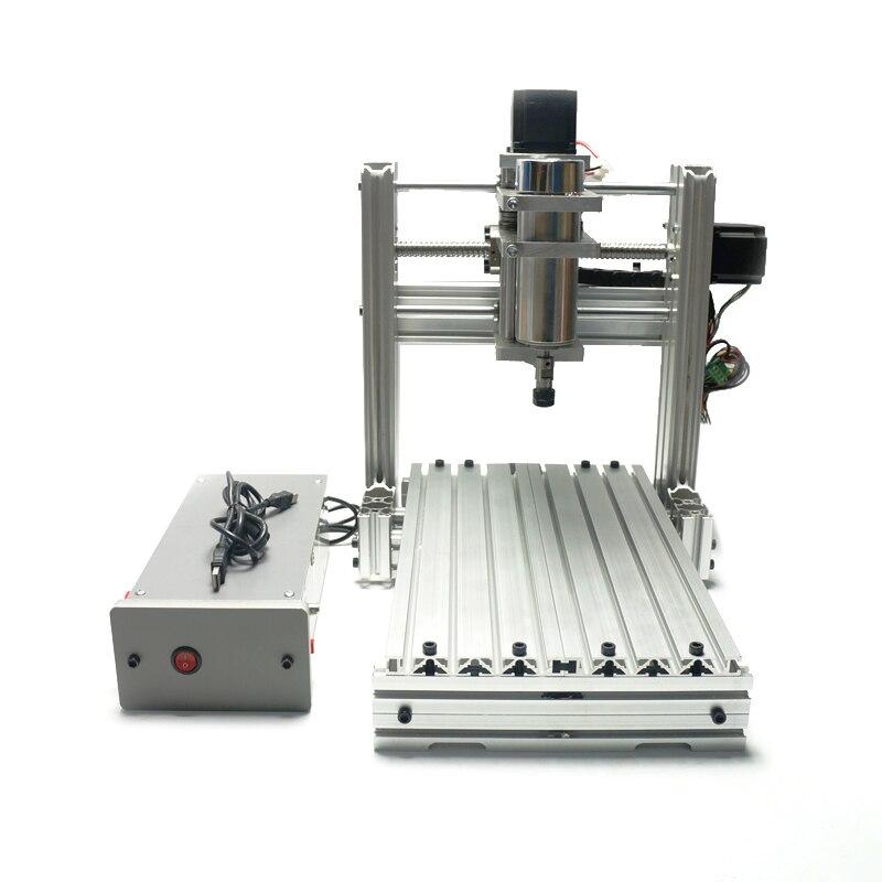 DIY 2520 3 оси 4 ЧПУ гравировальный станок для дерева камень токарный мини-станок