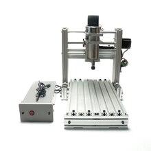 Bricolage 2520 3 axes 4 axes CNC machine de gravure pour mini tour de pierre de bois