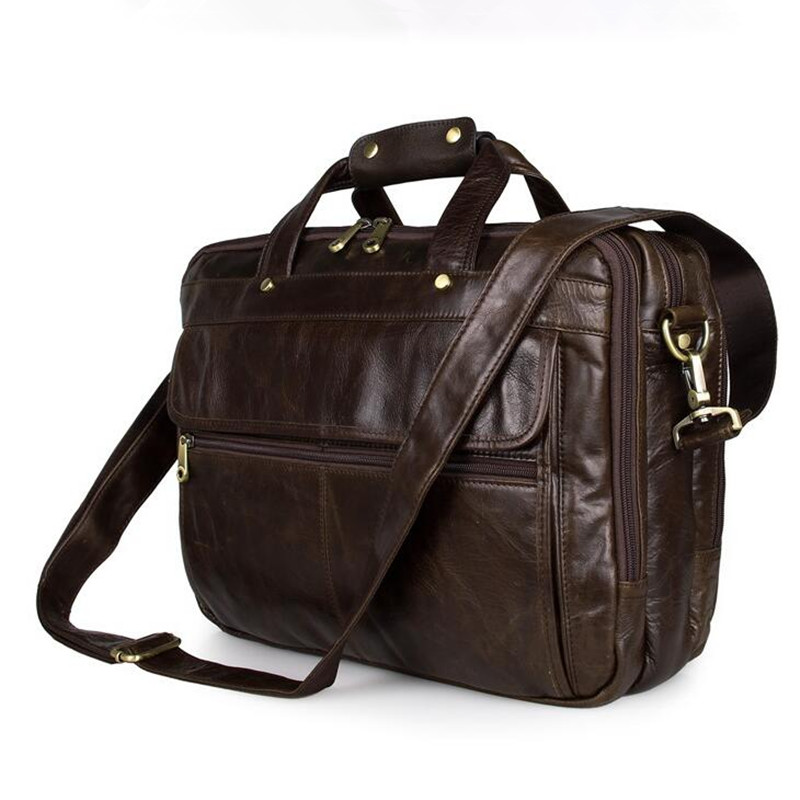 Genuine Leather Bag Men Messenger Bags Casual Multifunction Shoulder Bags Travel Handbags Men Tote Laptop Briefcases Men Bag contact s genuine leather men bag casual handbags cowhide crossbody bags men s travel bags tote laptop briefcases men bag new