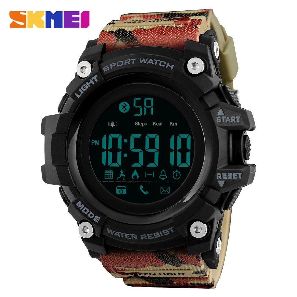 Мужские спортивные часы SKMEI, водонепроницаемые электронные часы с Bluetooth, шагомер, калории, новинка 2019