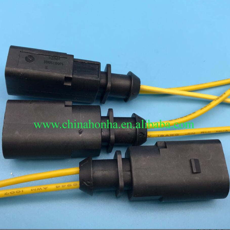 free shipping 2 pin plug housing connector wiring harness 1j0 973 802 1j0973802 for vw audi [ 909 x 910 Pixel ]