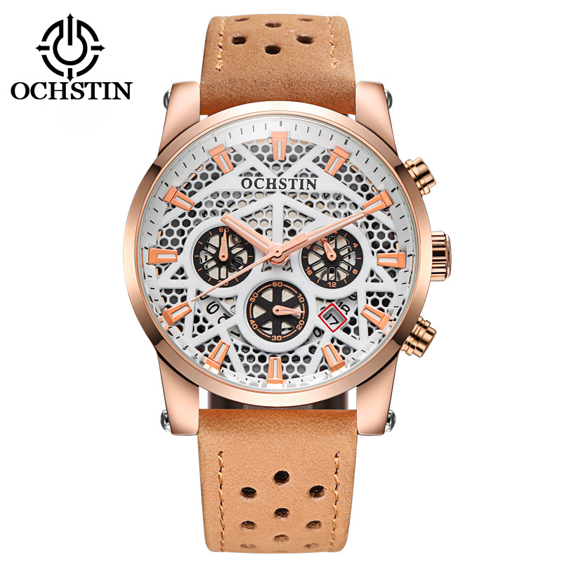 Watches Men Leather Band Fashion Chronograph Mens Watches Top Brand Luxury Clock Military Quartz Watch Relogio Masculino sunward relogio masculino saat clock women men retro design leather band analog alloy quartz wrist watches horloge2017
