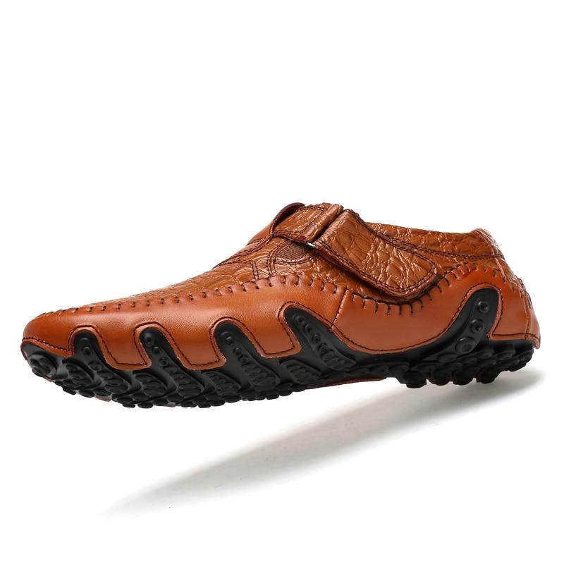 Genuíno Homens Da Calçados Vogue Black Sapatos Condução Moda Luxo De Dos Casuais Mocassins Handmade Couro brown Marca qv0XIv