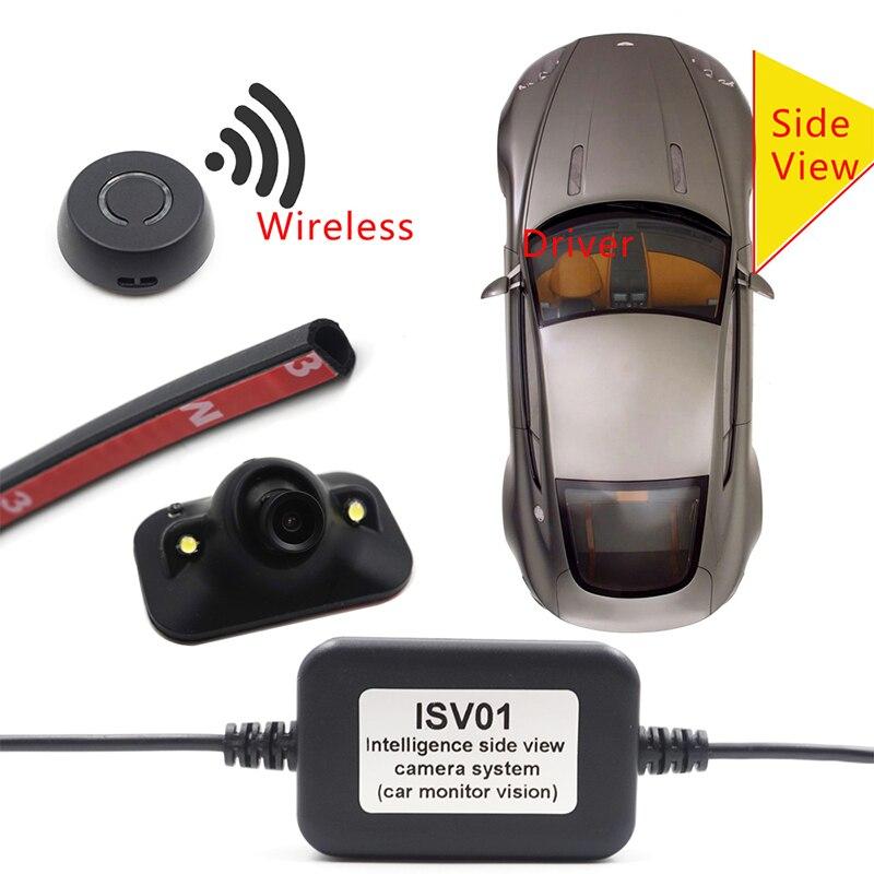 Автомобильная камера для наблюдения за слепыми пятнами, автомобильная беспроводная камера с боковым обзором, HD, ночное видение, Бесплатная ...