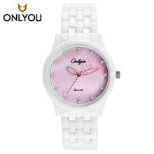 ONLYOU Lovers Watch Women Luxrury Brand Role Quartz Ceramic Watch Ladies Steel Wristwatch Mens hodinky Relogio Feminino 8852