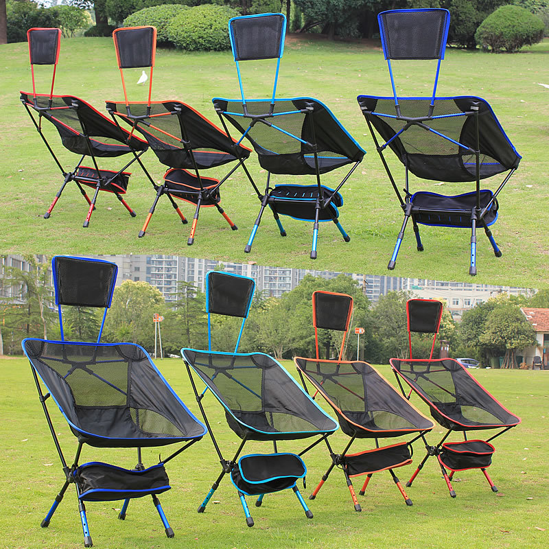 New Portable Outdoor Folding Chair Bungee Chair For Fishing Beach Back Yard Patio Lawn Camping Camp outdoor traveling camping tripod folding stool chair foldable fishing chairs portable fishing mate fold metal chair