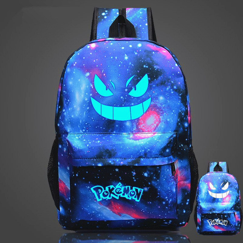 Pouplar Luminous Printing Game Pokemon Go Backpack Pokemon Gengar Backpacks School Bags For Teenager Girls Mochila Feminina new fashion game pokemon backpack anime pocket monster school bags for teenagers gengar bag pu leather backpacks rugzak