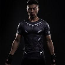 016e34dcdd Black Panther Impresso 3D Camisetas Homens Camisa De Compressão Capitão  América Manga Curta Cosplay Traje de