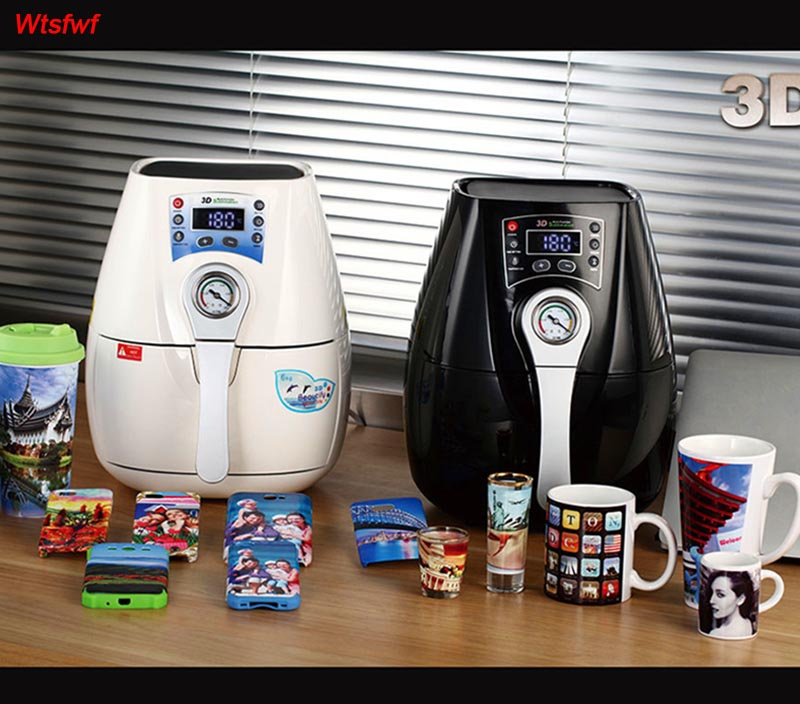 Wtsfwf ST-1520 B Mini 3D Sublimation Heat Press Printer 3D Vacuum Printer Machine for Phone Cases Mugs Plates Glasses mini smaller 3d vaccum heat press 1520