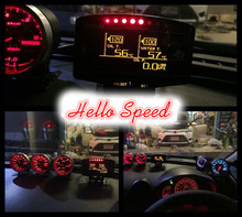 digital gauge wideband defi zd volt/water temp/oil temp/oil press/tachometer/speedometer/boost/air fuel ratio/egt/bf c2 cr a1