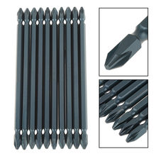 10pcs Dual-head Cross Screwdriver Bit 1/4inch Shank Bit 65mm S2 Alloy Steel Screwdriver Bits Set H6.3*65*PH2(China)
