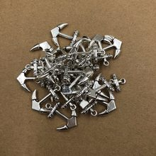25MM Hot Sell Antique Silver Anchor Pendants for Necklace Bracelet Jewelry Making DIY Handmade 5ps(China)