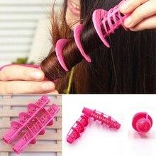 2Pcs Hair Styling Tools Hair Care Natural Big Wave Curls Rollers Curlers Curling Styling Tool