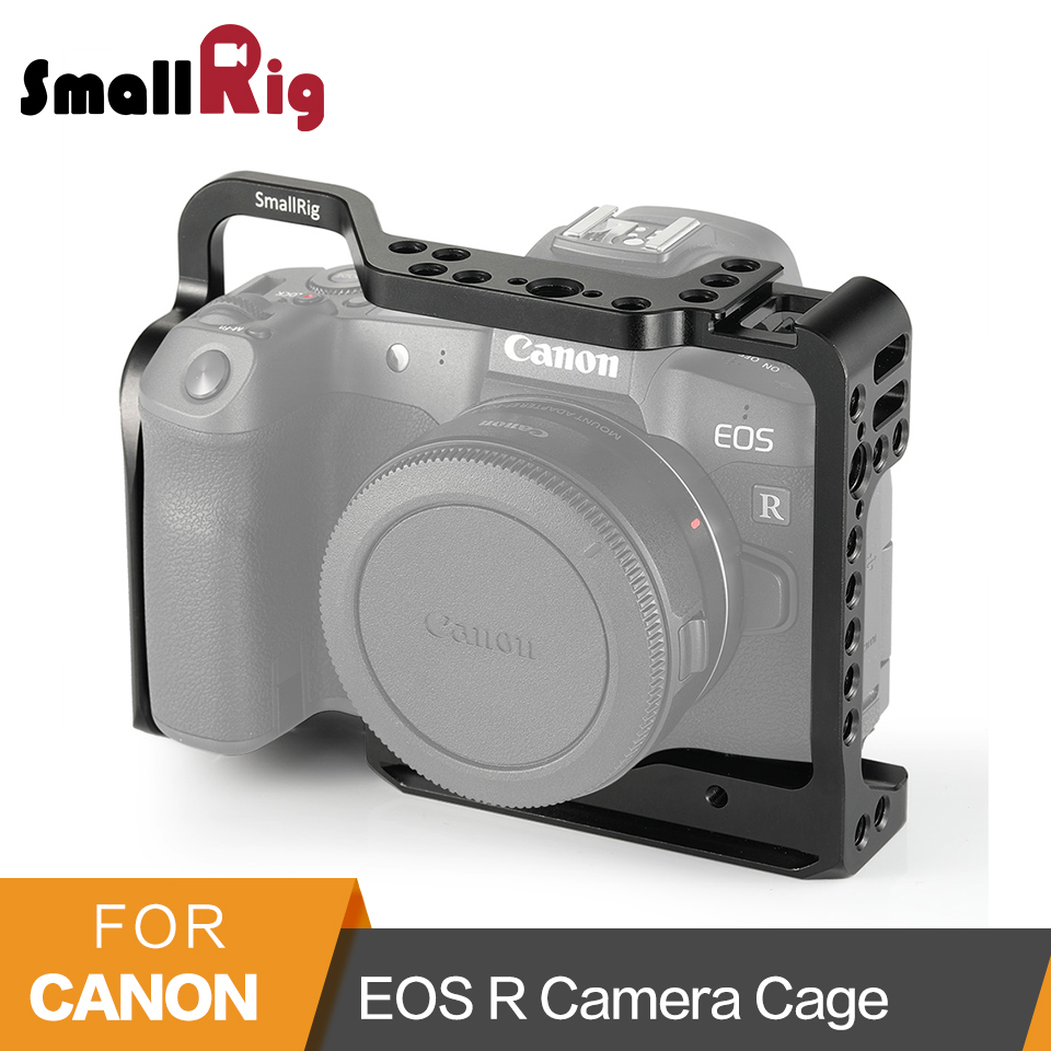 Cage pour Canon EOS R Cage de montage avec support de chaussure froide plaque de base suisse Arca intégrée Arri trous de localisation-2251