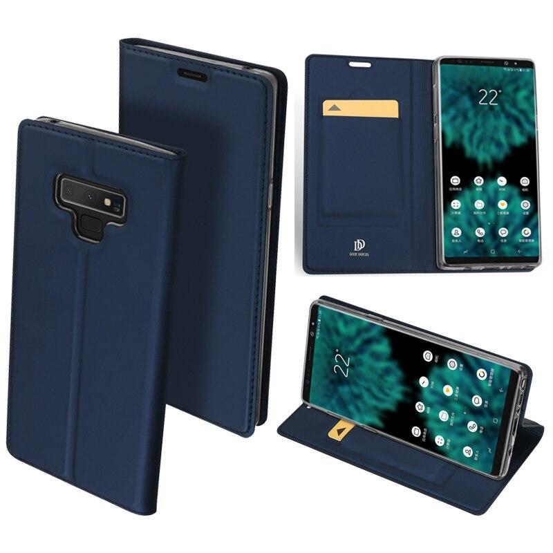 D'origine DUX DUCIS PU Étui En Cuir Pour Samsung Galaxy Note 9 Téléphone Cas De Luxe Mince Flip Portefeuille Couverture Pour Samsung note 9 Coque