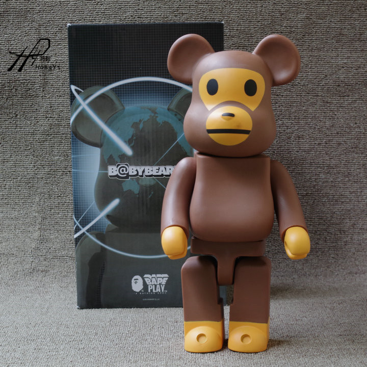 400% bearbrick Bear@brick BABY MILO BAPE Art Figure as a gift for boyfriends ,girlfriends and students new violence bear momo bearbrick gloomy bear popobe spiderman vinyl toys 10 inch 25cm