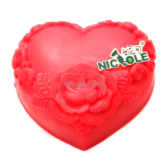 Fesselnd Nicole R0541 3D Herzförmigen Natürliche Silikon Seife Formen Für St.  Valentinstag Factory Outlet