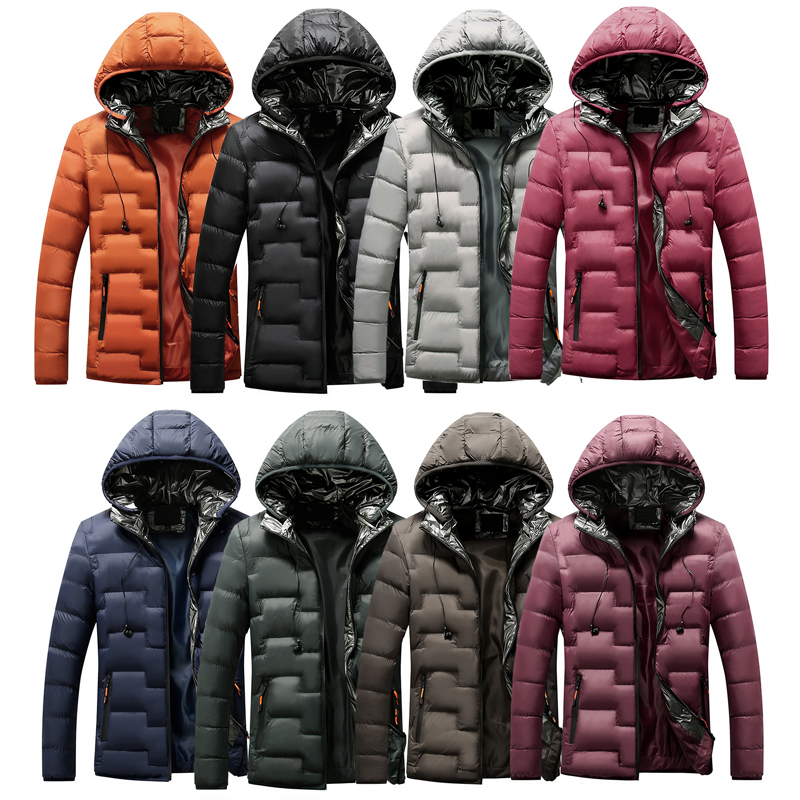 Korean Style Fashion Winter Jackets Men Hooded Coats Casual Outwear Multi Colors Thick Warm Parka Men Simple Down Jackets Hombre