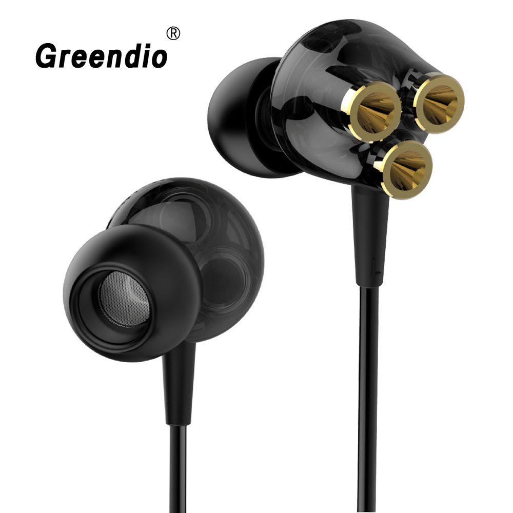 Greendio GR10 Earphone 6 Units Balanced Armature BA Drivers In-Ear Monitor Noise Cancelling Custom Headphone Six Dynamic Earbuds