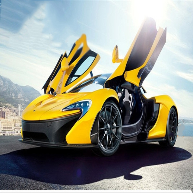 McLaren P1 1:32 Alloy Car Models Soundu0026light Pull Back Kids Toy Double  Horses Supercar