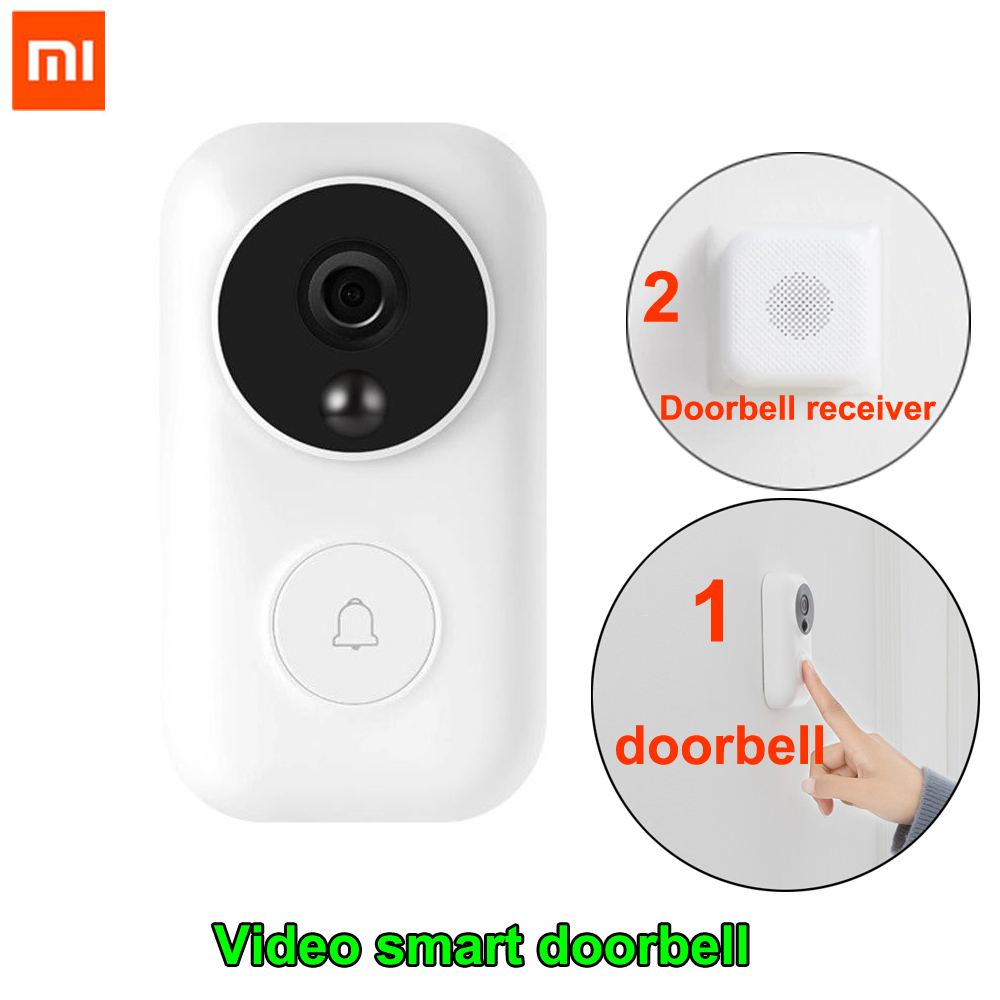 Xiaomi Zero AI Face Identification Doorbell Set 720P IR Night Vision Video Motion Detection SMS Push