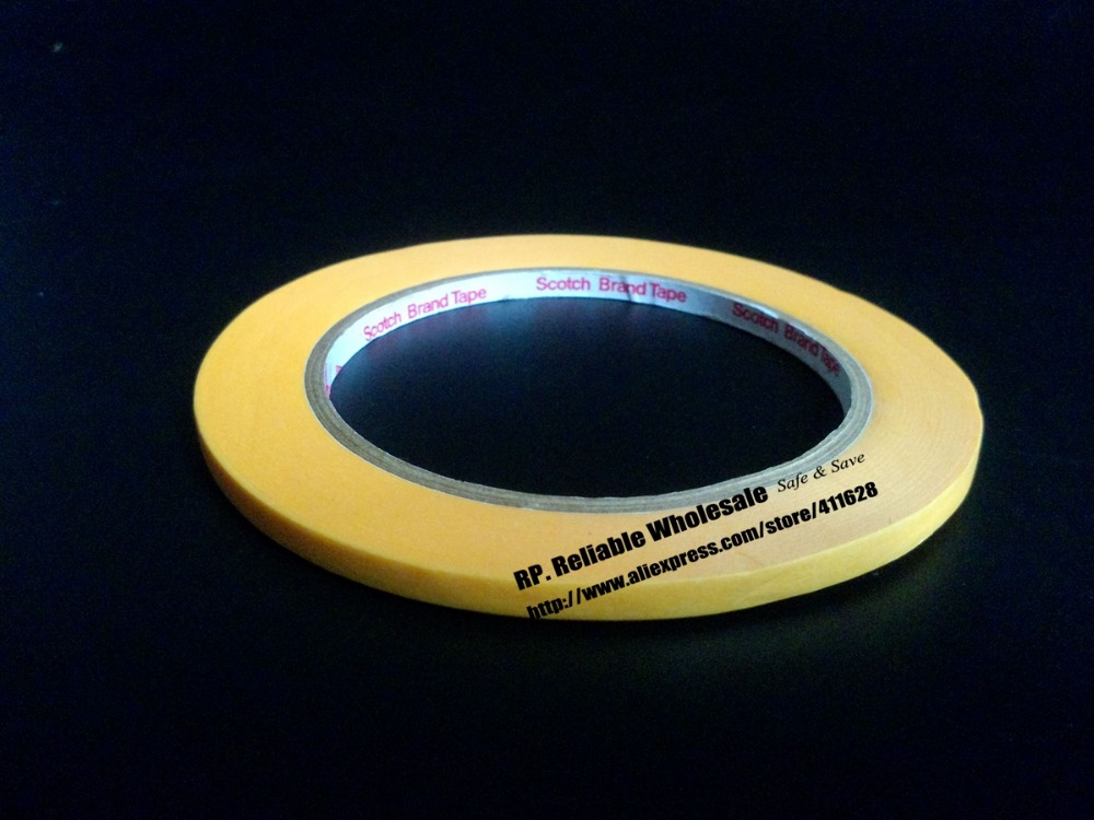 (15mm*50M) New 3M 3M244 Yellow Masking Tape for PCB Auto High Temperature Painting Coating Shielding Protecting 1 x55m 3m 232 scotch high performance masking tape for medium temperature paint bake operations