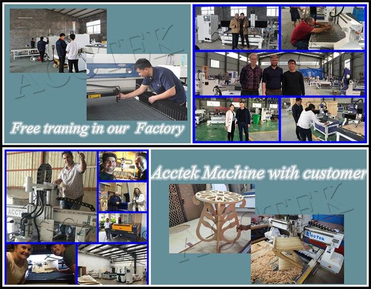 Acctek machine with customer
