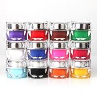 12 Stks Mix Effen Kleuren Pure Nagels Gel Acryl Nail Art POLISH Tips DIY UV Builder Vrouwen Manicure Solon Sets Tool groothandel