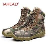 ผู้ชายรองเท้ายุทธวิธีแฟชั่นพรางผ้าใบรองเท้าบู๊ทส์ฤดูหนาวรองเท้ากองทัพรอง