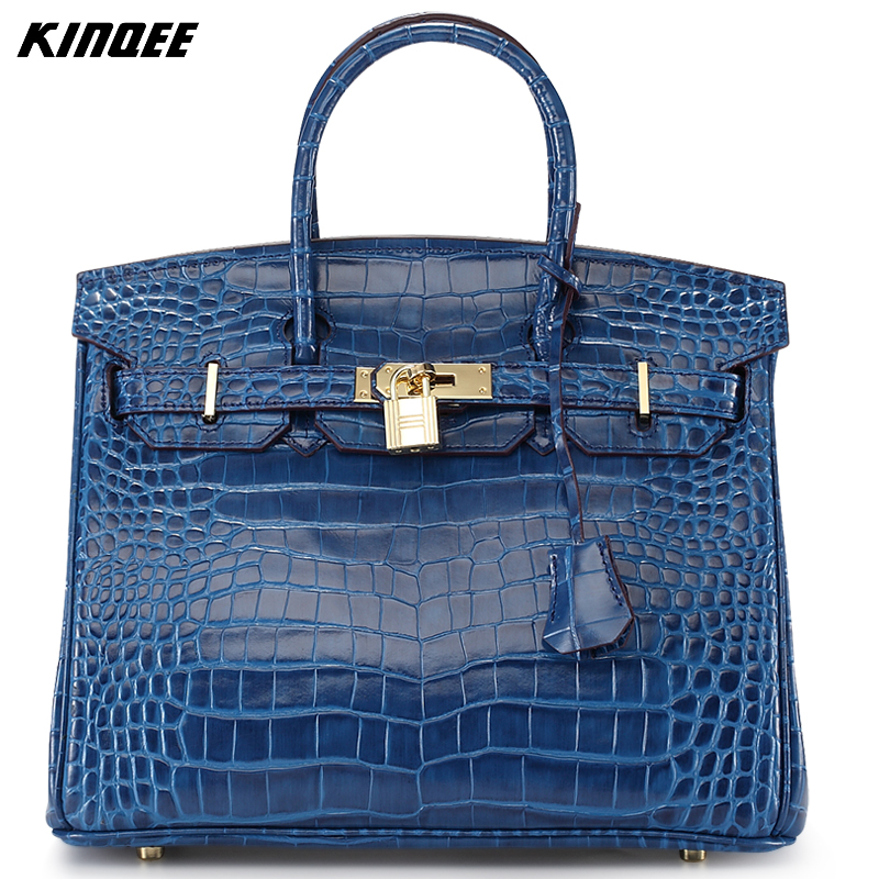 30CM Classic Women Handbags Alligator Cow Leather Bags Luxury Designer Tote Shoulder Bag Genuine Leather Crossbody Cover Quality new mini luxury tiger head 3d relief designer alligator serpentine women handbags shoulder leather bags tote bag