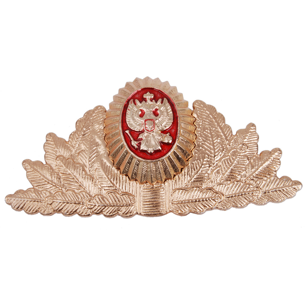 RUSSIAN SOVIET USSR MILITARY METAL CAP HAT BADGE COCKADE - 36281