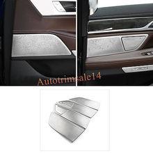 6PCS Interior Door Speakers Cover Trim For BMW 7 Series G11/G12 2016-2018