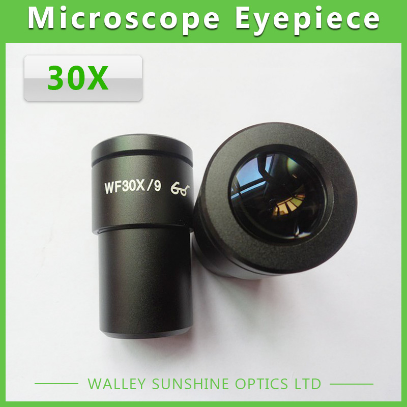 ФОТО 1 Piece WF30X / 9mm Zoom High Eyepoint Eyepiece Optical Lens High Eye Point Eyepiece Mounting Size 30mm for Stereo Microscope