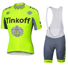 Tinkoff fluorescent cycling font b jersey b font ropa clismo hombre abbigliamento ciclismo men s cycling