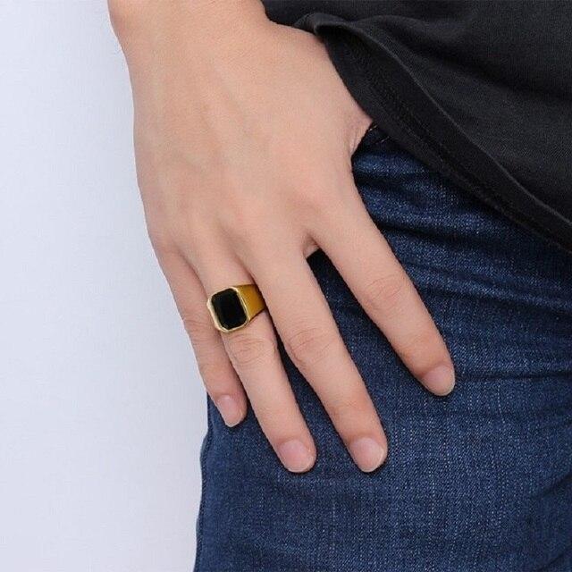 Купить высококачественное мужское кольцо модные кольца золотого цвета