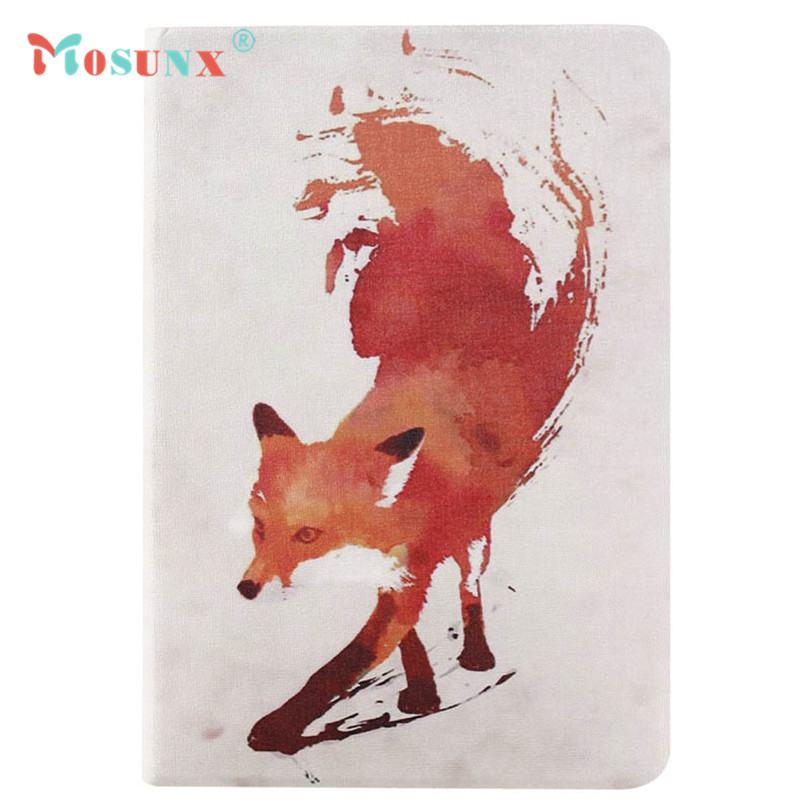 Hot-sale MOSUNX Fox Pattern Flip Stand Leather Case Cover For iPad Mini 1 2 3 Retina Tablet Gifts