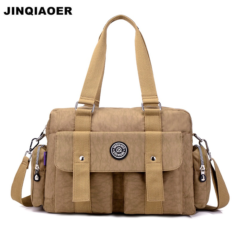 JINQIAOER Anti Theft Women Handbags Nylon Waterproof Casual Tote Bags Ladies Shoulder Bag Travel Female Crossbody Bags Canta women handbag shoulder bag messenger bag casual colorful canvas crossbody bags for girl student waterproof nylon laptop tote
