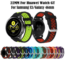 20MM Silicone Sport Band For Samsung Galaxy Watch Active Rubber Replacement 42mm Bracelet
