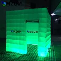 MZQM высокая плотность оксфордская ткань надувная фотокамера куб светящийся Декор надувная телефонная будка