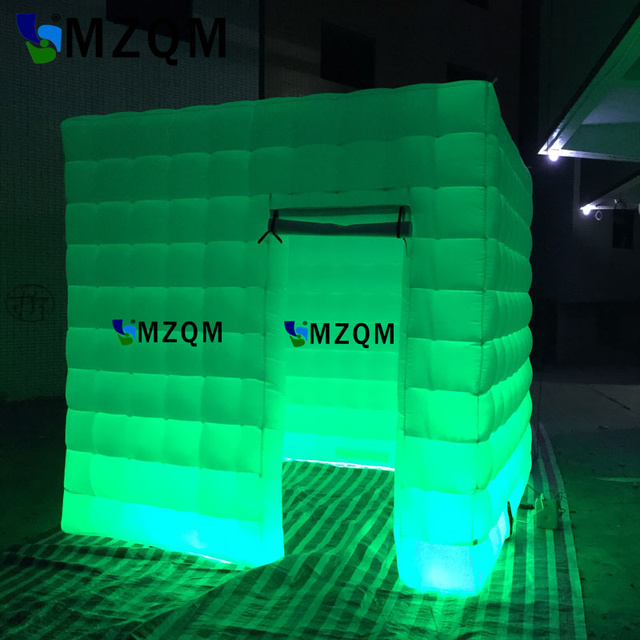 Mzqm High Density Oxford Cloth Inflatable Photo Booth Cube Glow Decor Phone
