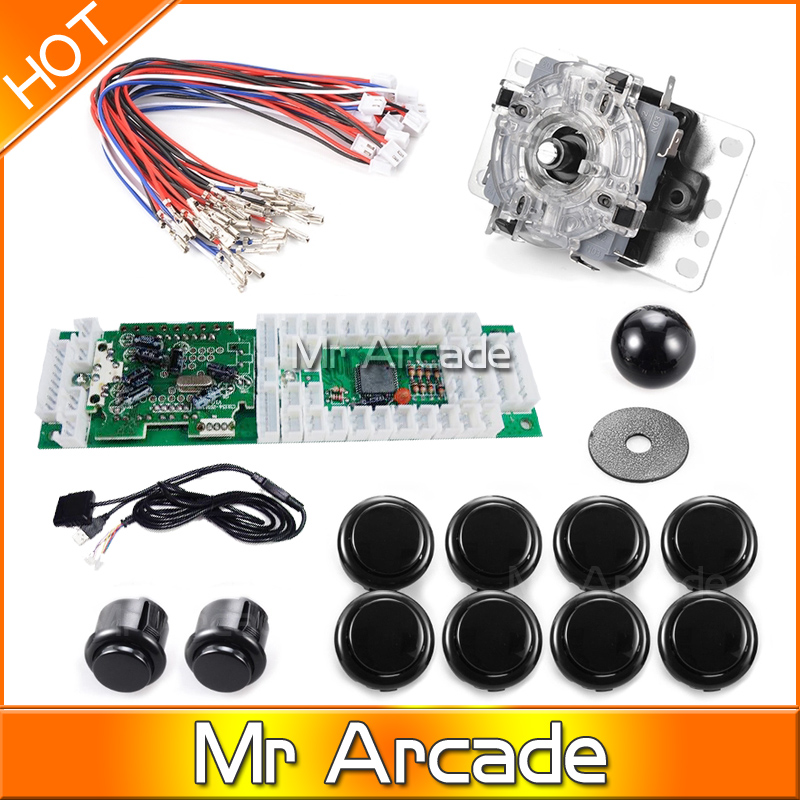 Free shipping Arcade USB Encoder Joystick for Mame Jamma PC Fighting Games Red  Support windows systems XBOX 360 PS2 PS3 Android в магазине контроллер xbox 360 windows