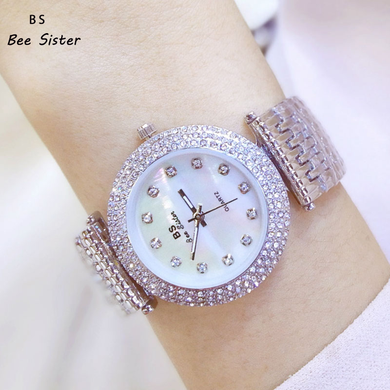 цена 2018 BS brand Fashion Luxury Quartz Women Watches Diamond ladies Watch Casual Gold WristWatch Clock Relogio feminino reloj mujer