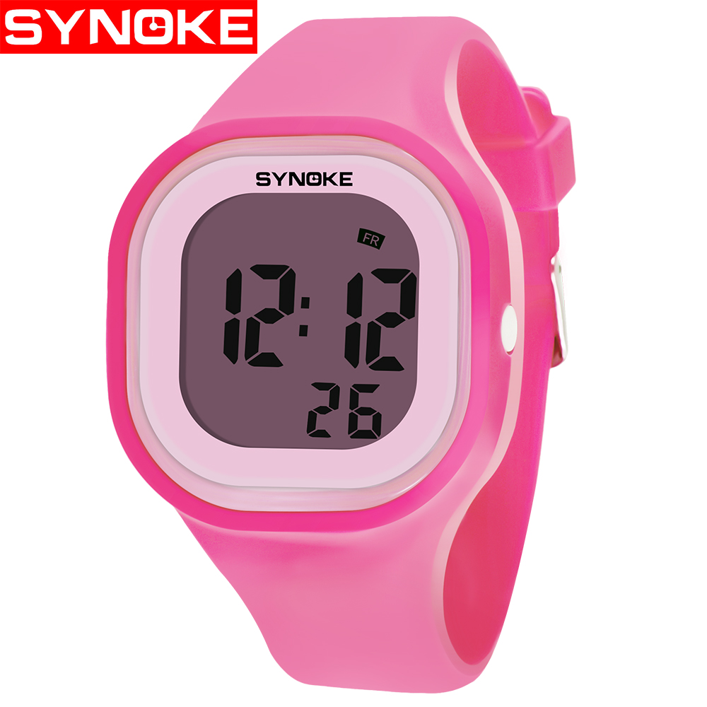 SYNOKE Children Watch Boys Girls Sports Waterproof Alarm Clocks Gifts LED Digital Electronic Wristwatch For Unisex Watches #a
