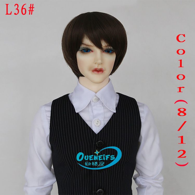 Wig For BJD Doll free shipping bjd wig 9-10 inch 1/3 high-temperature wig man short hair sd doll Wigs fashion type stylish hairWig For BJD Doll free shipping bjd wig 9-10 inch 1/3 high-temperature wig man short hair sd doll Wigs fashion type stylish hair