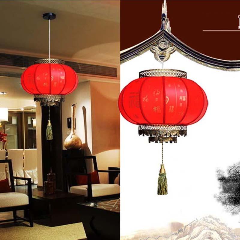 Chinese Lanterns Red Pendant Light Antique E27 Led Lights Hotel Lamp Living Room  Lights Restaurant Pendant Lights In Pendant Lights From Lights U0026 Lighting  ...