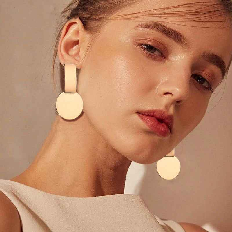 Metal Multicolored Drop Dangle Earrings For Women Geometric Wedding Party Vintage Earring Female Bohemian Jewellery