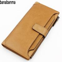 banabanma Stylish Men Wallets Business Long Wallet Zipper Buckle Multifunctional Purse And Wallets carteira masculina ZK40